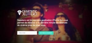 Est la première application pour iPhone qui permet de réserver sa séance de ciné à la dernière minute !