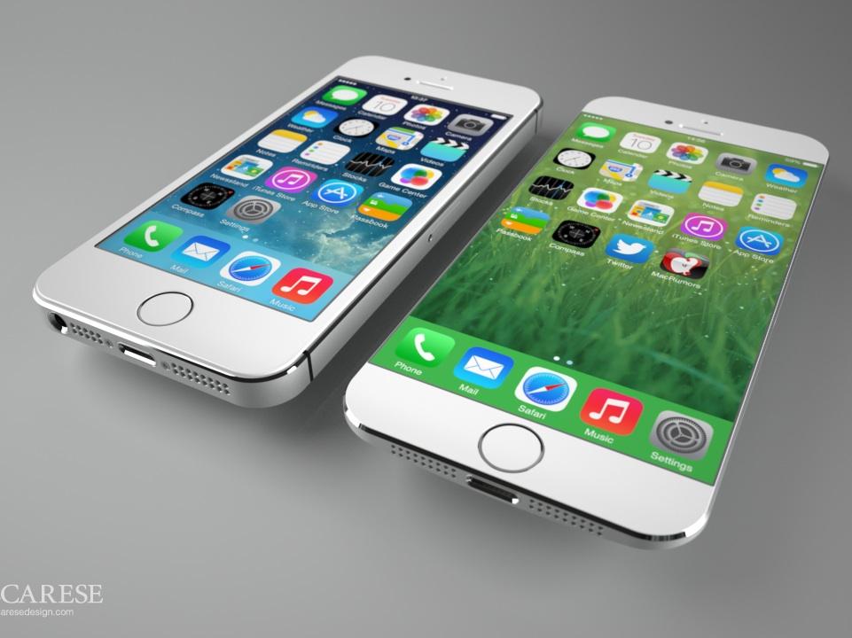 iPhone 6 (à droite) : un écran plus large.