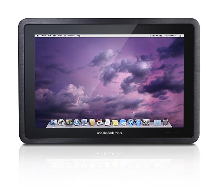Une tablette qui fonctionne sous ... Mac OS X. C'est ModBook Pro.