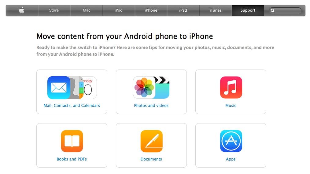"""Nouveau ! Guide Apple pour savoir migrer ses données """"androïd"""" vers un iPhone."""