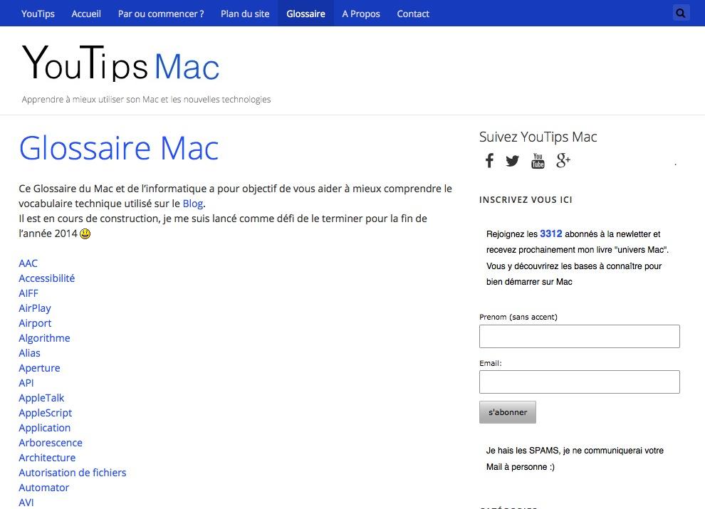 Le Blog YouTips a publié un glossaire autour du MAC. Bien utile !
