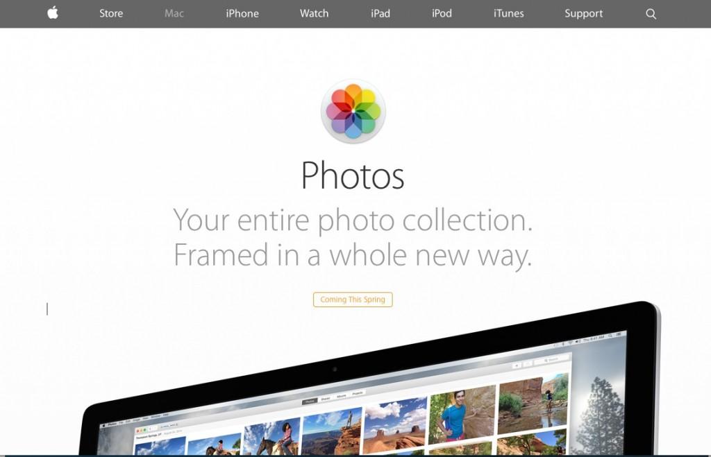 Pour OSX, PHOTOS serait lancé au Printemps ...
