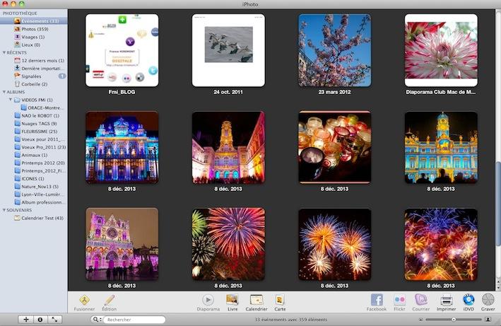 iPhoto automatise le rangement de vos images.