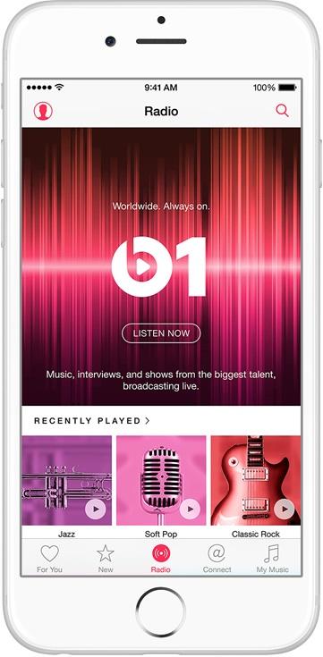 Beats1, la radio mondiale, 24h/24h.