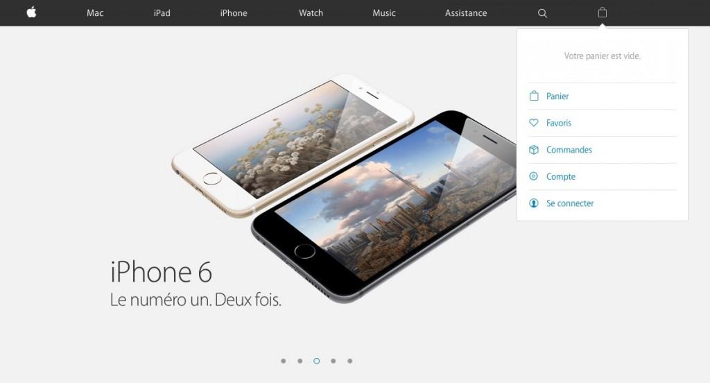 Août 2015 : le nouveau chemin pour se connecter à l'AppStore.