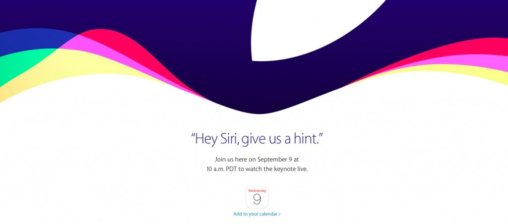 Keynote Apple, le 9/9/15, en direct, dès 19h sur le site US.