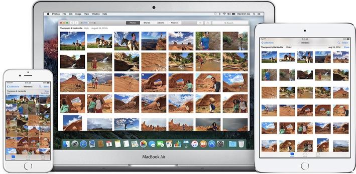 Apple a optimisé la synchronisation des Photos entre ses différents terminaux. OSX et iOS.