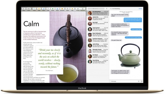 "OSX 10.11 ""El Capitan"" : la fenêtre multi-écrans."