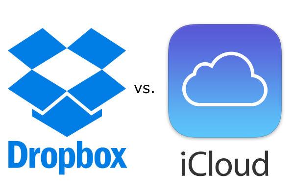 """Au choix, 2 solutions gratuites de stockage dans le """"nuage"""" : iCloud ou DropBox."""