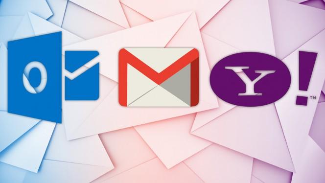 Gmail, Outlook.com, YahooMail ! Le top 3 des messageries les plus utilisées.