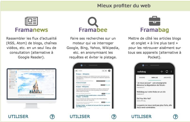"""Framasoft propose une palette d'outils/services """"dégooglisons Internet""""."""