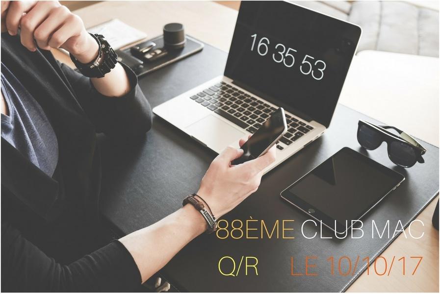 Mardi 10 Octobre, Q/R au Club Mac